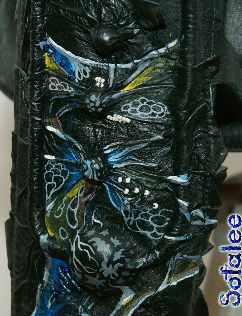 Куртка женская из кожи в стиле фэнтези 088