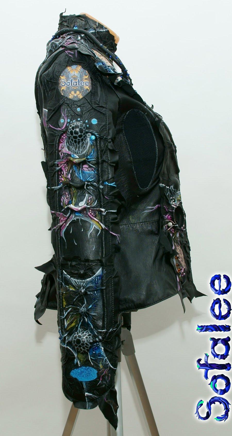 Куртка женская из кожи в стиле фэнтези 0