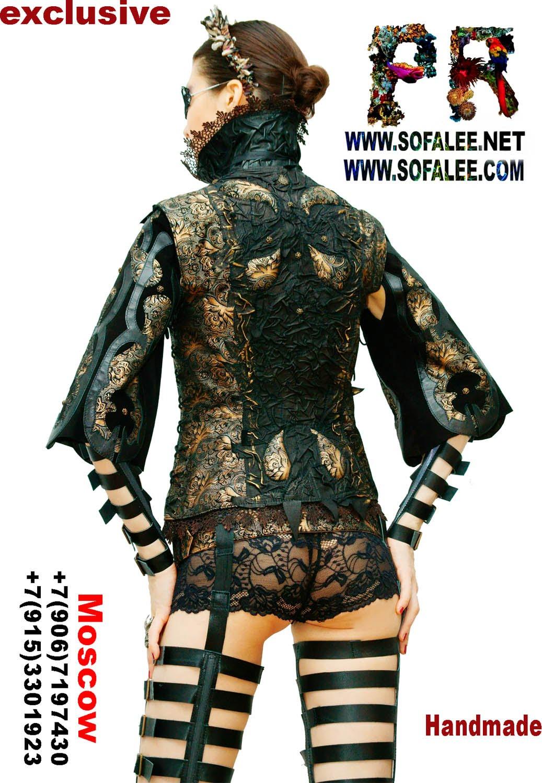 bronze black leather jacket 00