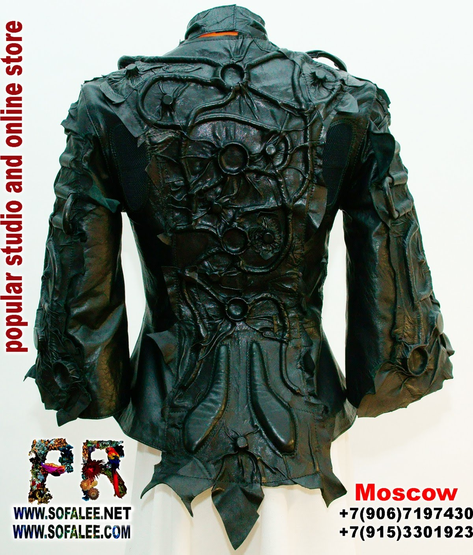 куртка кожаная черная 01