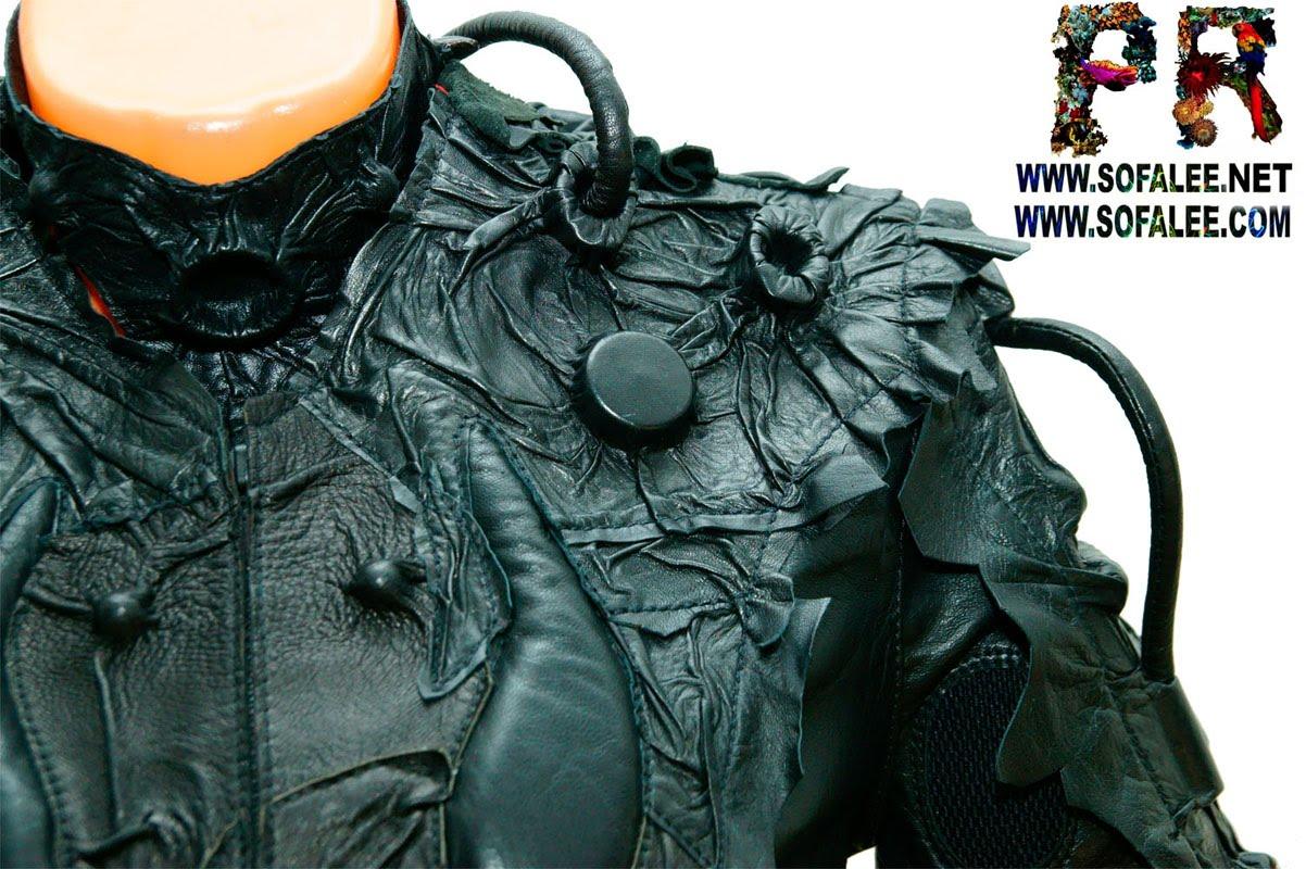 женский жакет кожаный 001