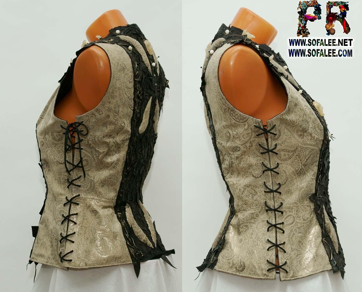 женская куртка жилетка кожаная 002