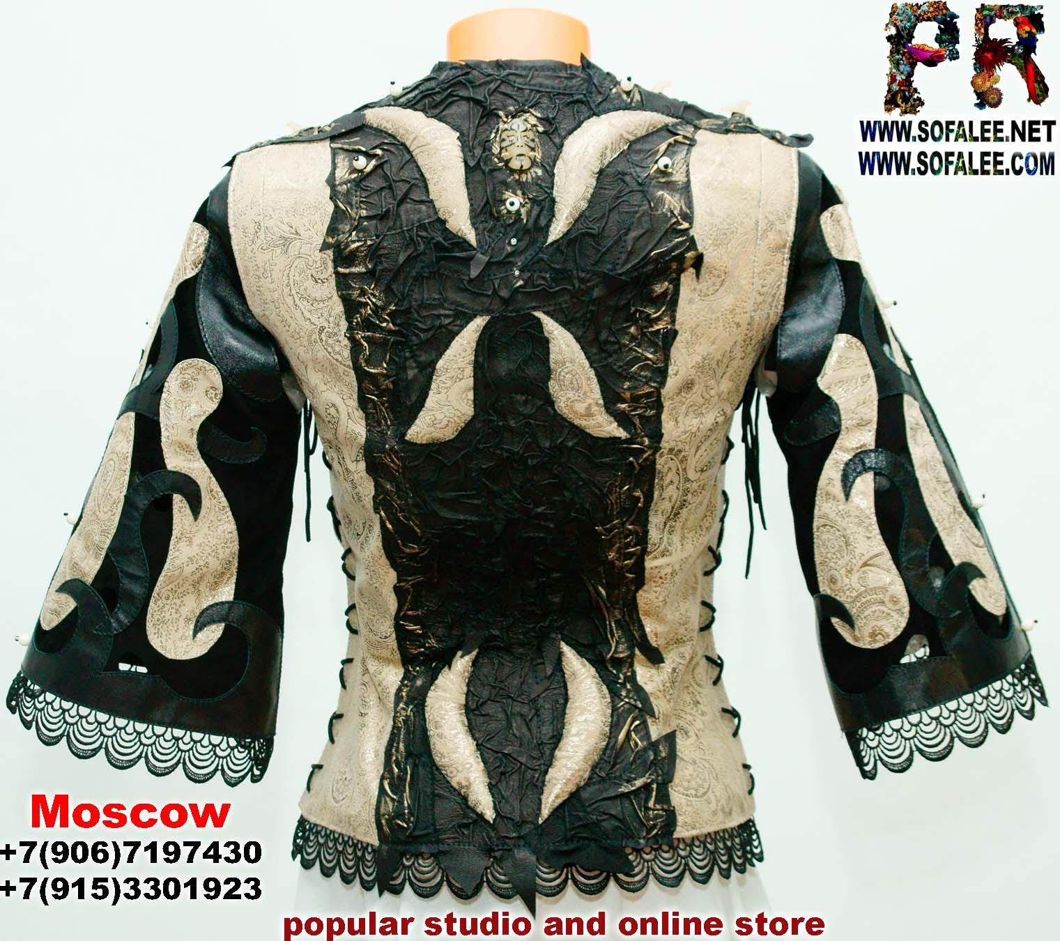 женская куртка жилетка кожаная 08