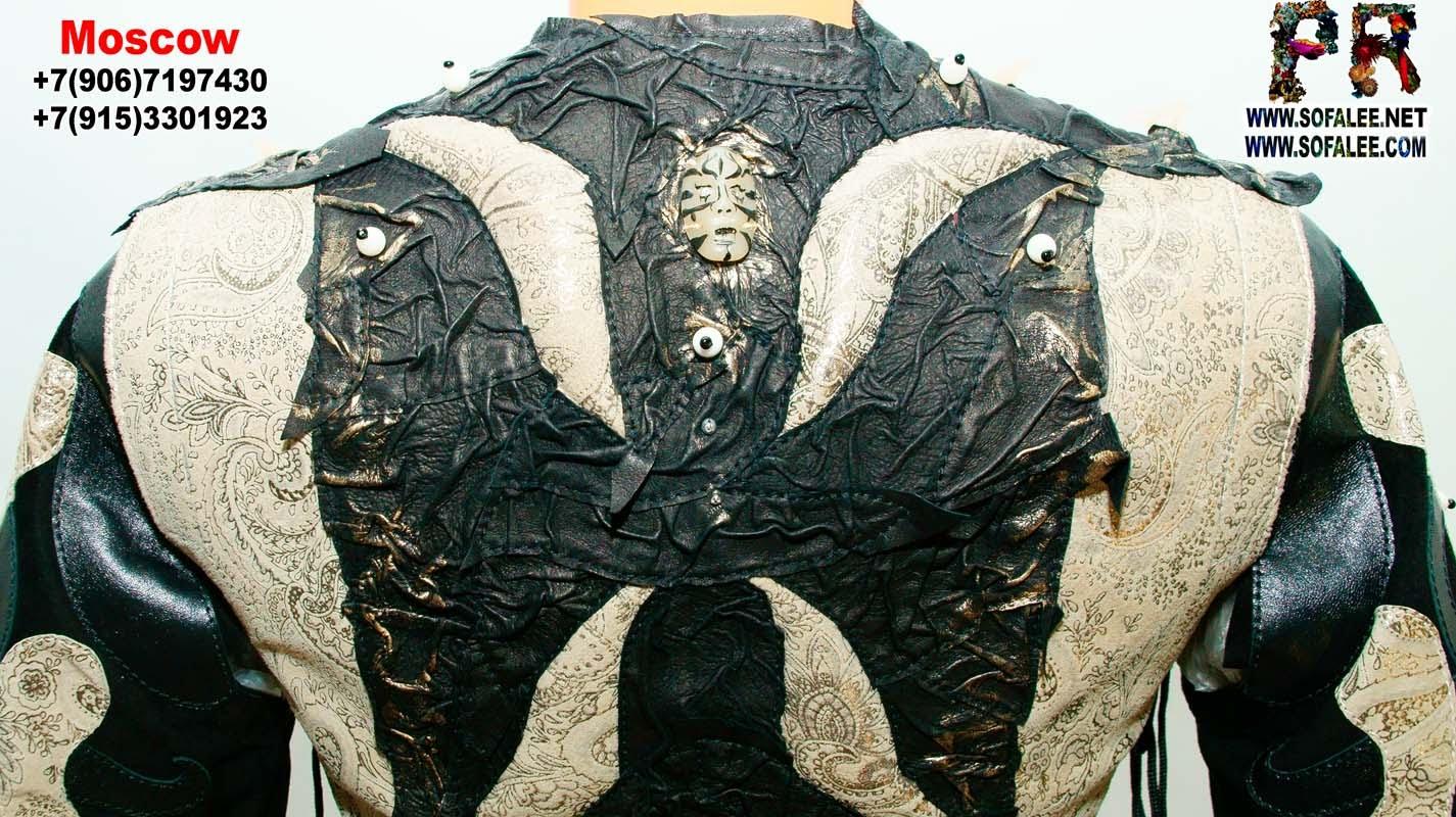 женская куртка жилетка кожаная 11
