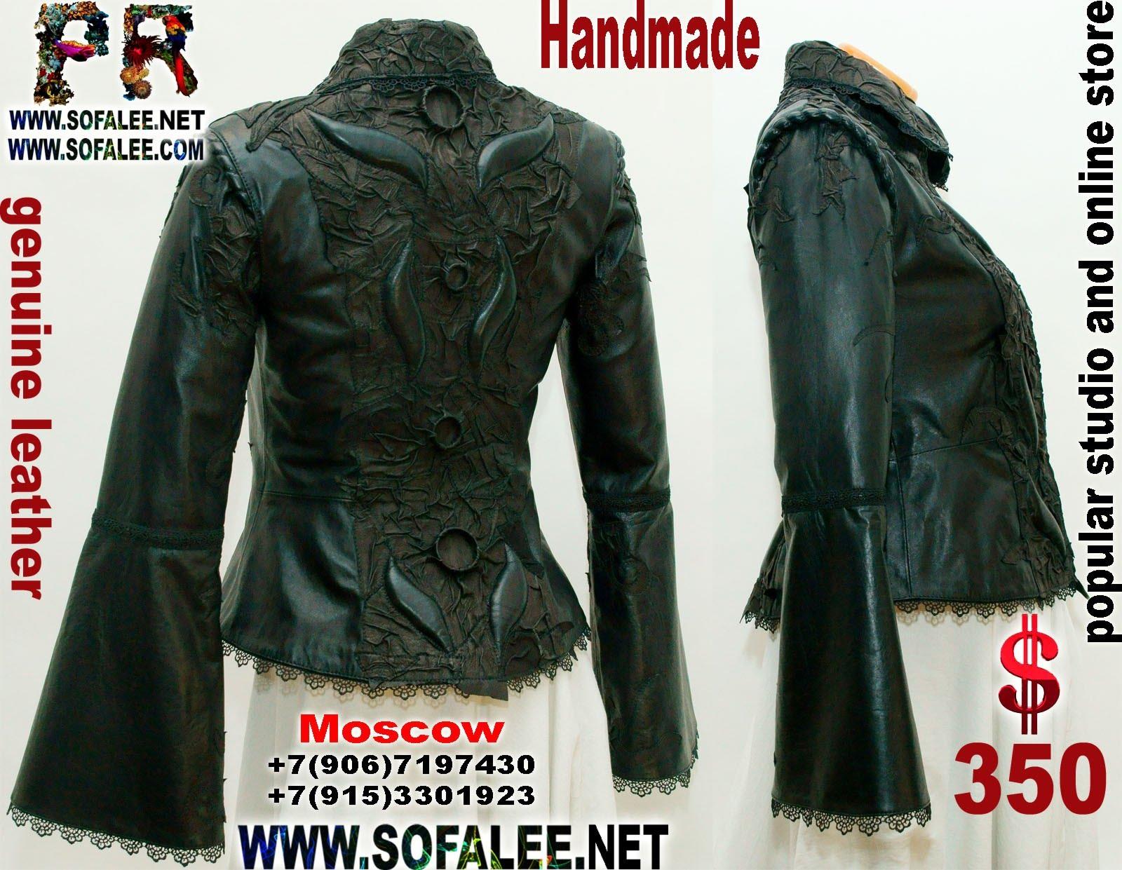 приталенная куртка женская из кожи 09