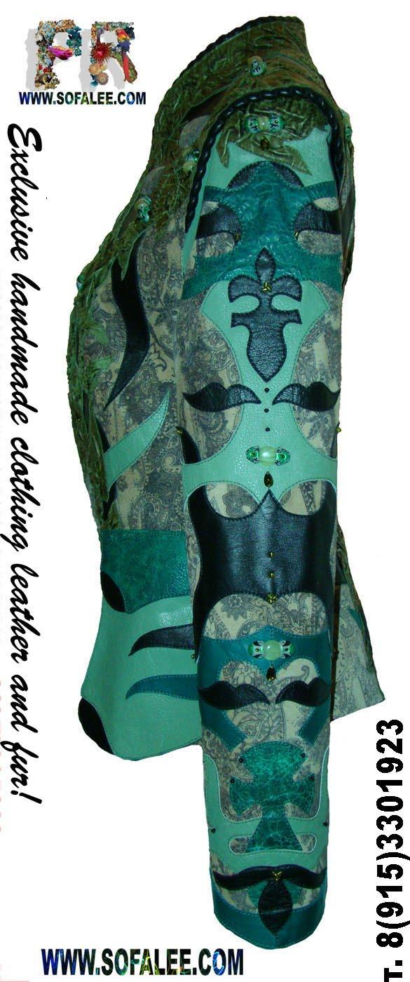 Фото куртка из кожи натуральной,женская эксклюзивная.