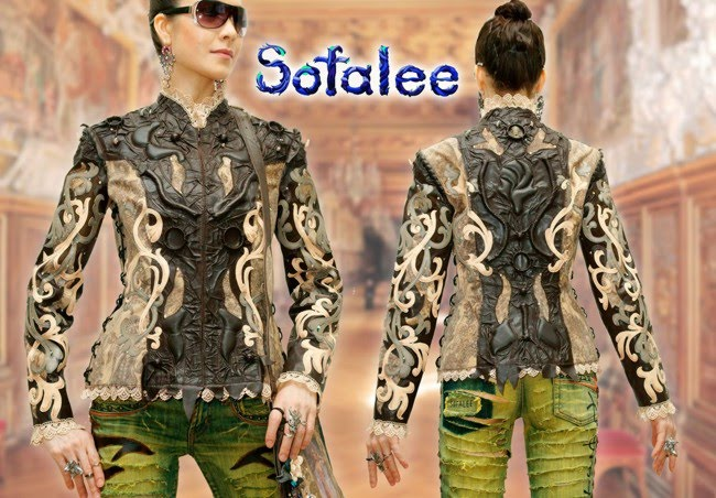 """№198 Exclusive women's genuine leather jacket """"Game of Thrones"""""""