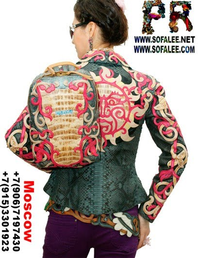 №203 Crocodile Python skin Backpack for women BP58
