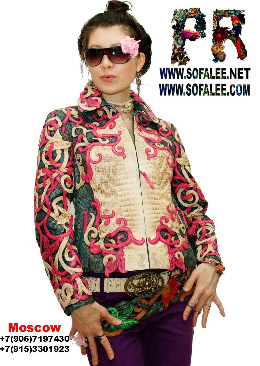 куртка женская из крокодила и питона 000
