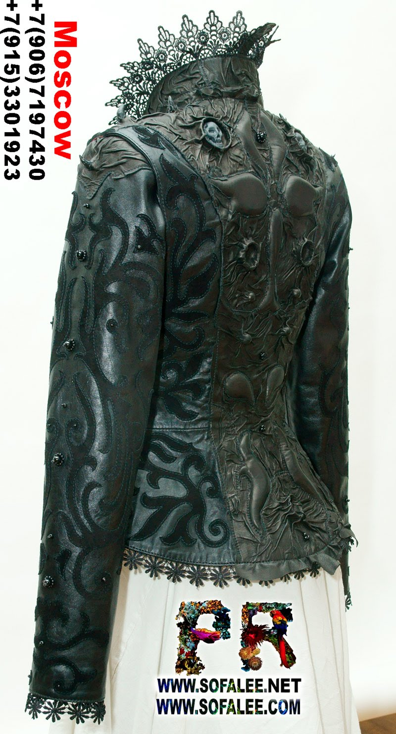 куртка кожаная женская готическая 0