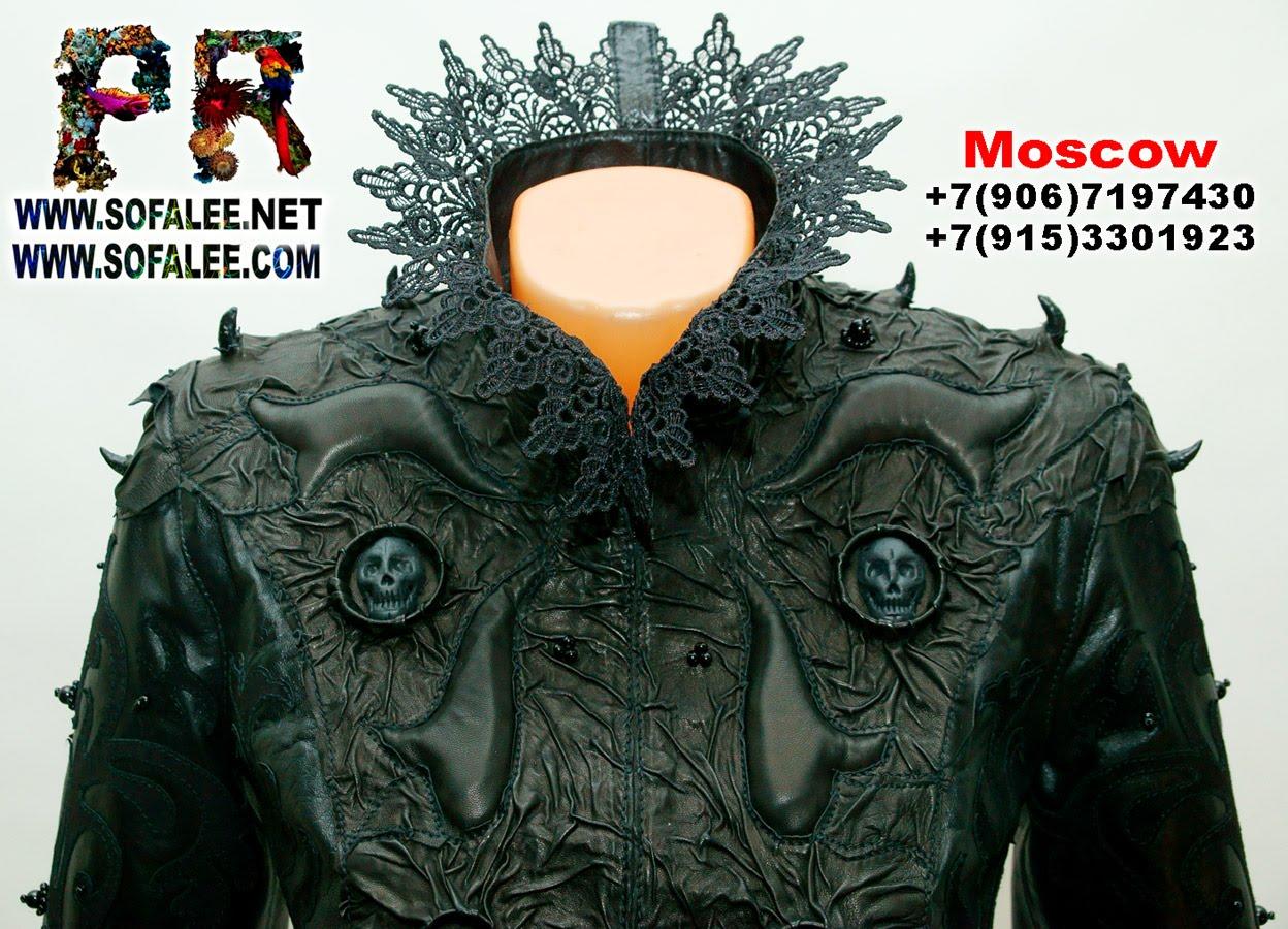 куртка кожаная женская готическая 0009
