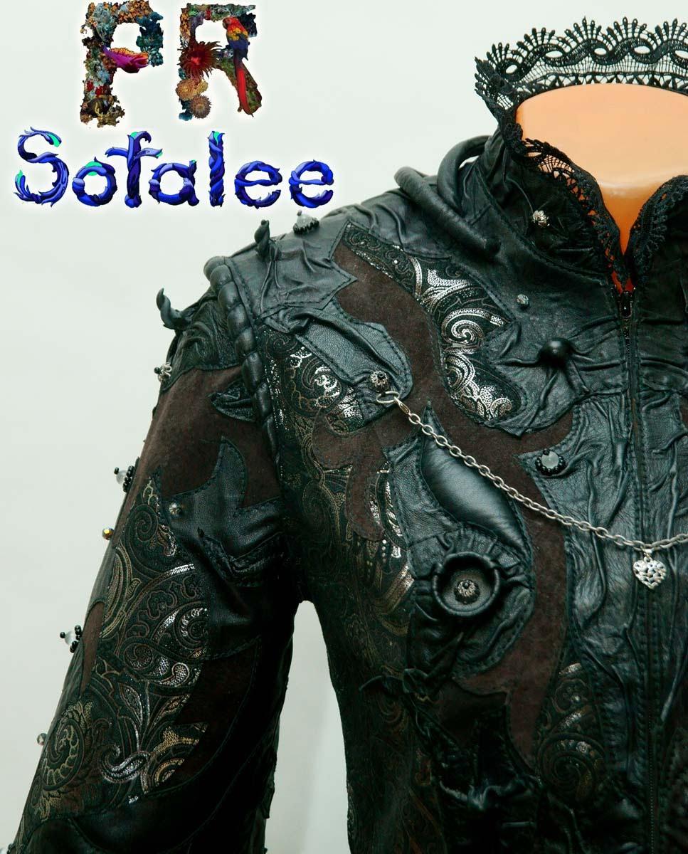 эксклюзивная куртка из кожи с кружевами 02