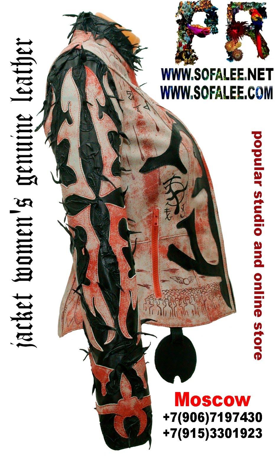 куртка женская из натуральной кожи в стиле панк