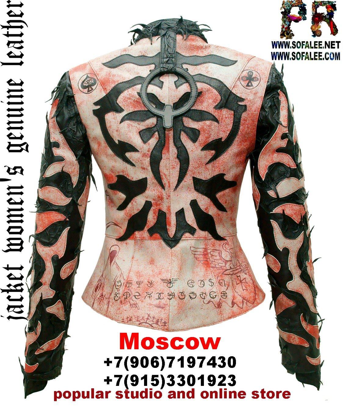 куртка женская из натуральной кожи в стиле панк 0001