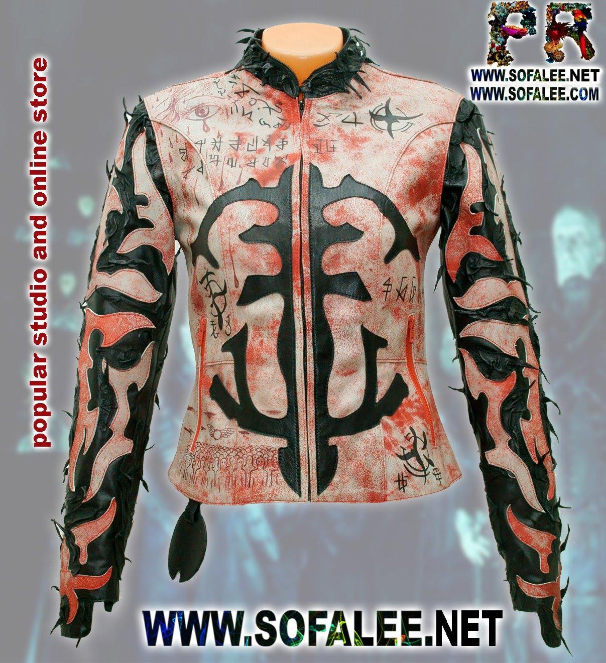 куртка женская из натуральной кожи в стиле панк 00001
