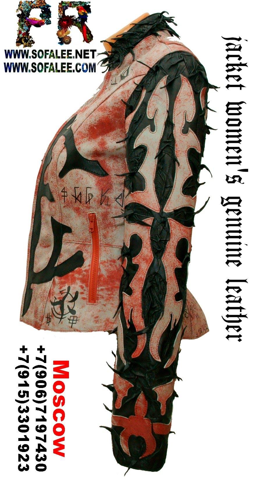 куртка женская из натуральной кожи в стиле панк 00
