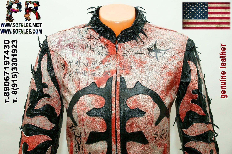 куртка женская из натуральной кожи в стиле панк 03