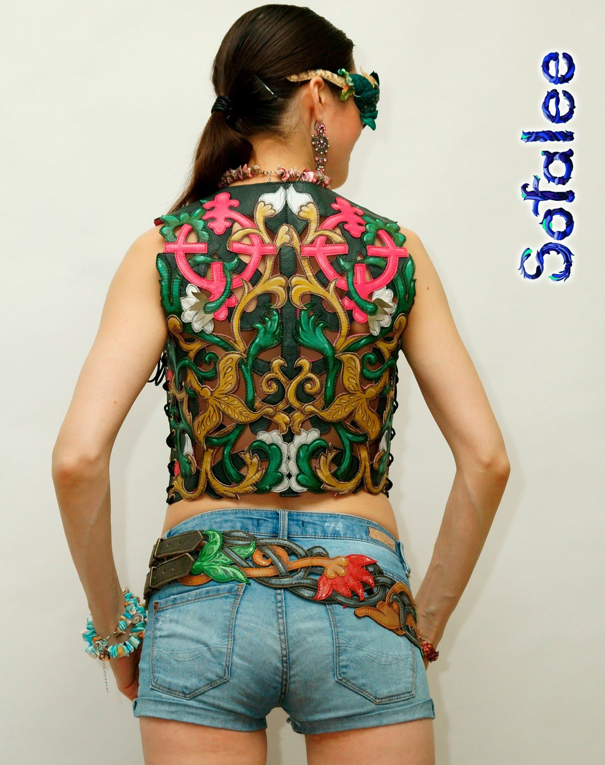 bright womens leather vest 001