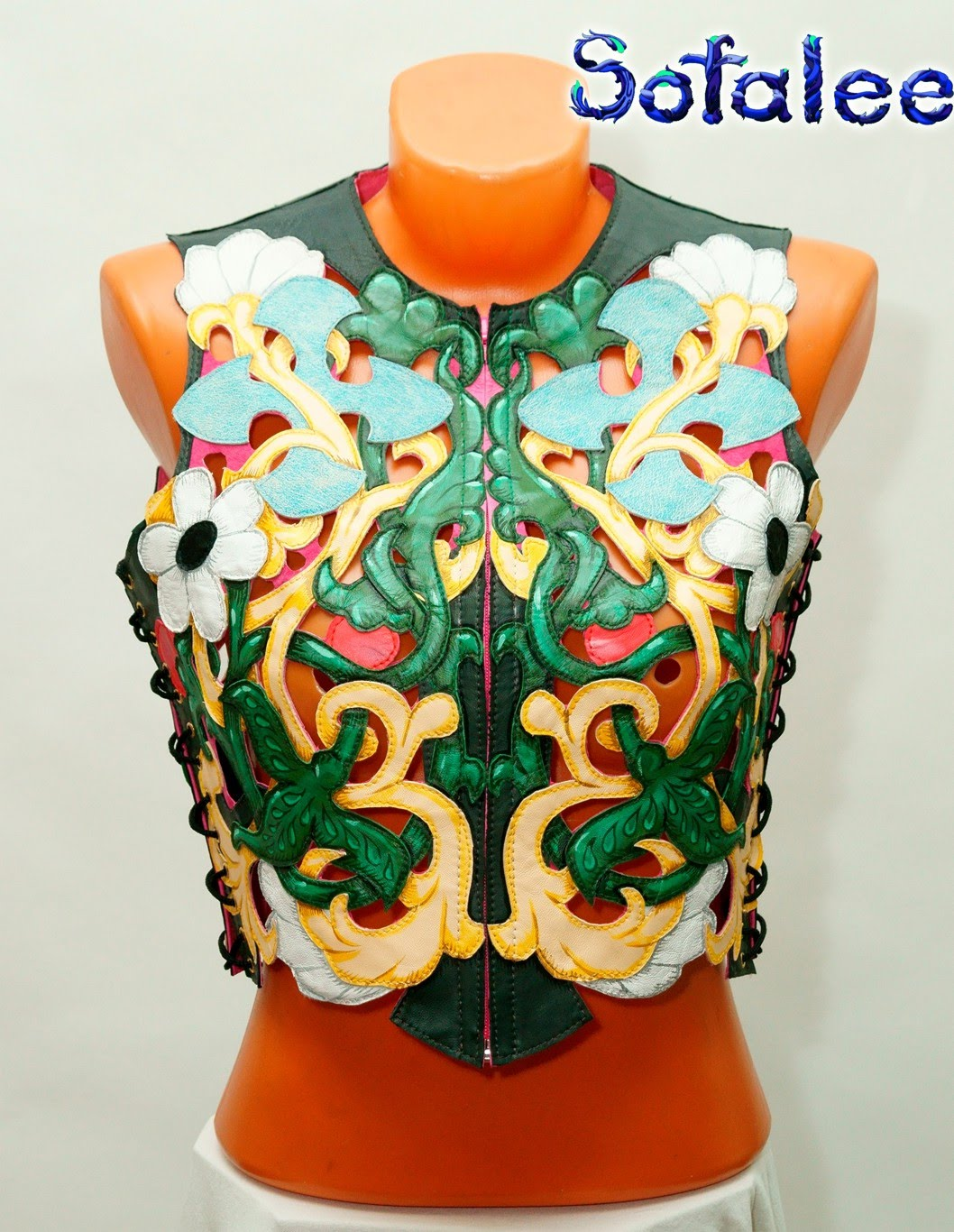 bright womens leather vest 02