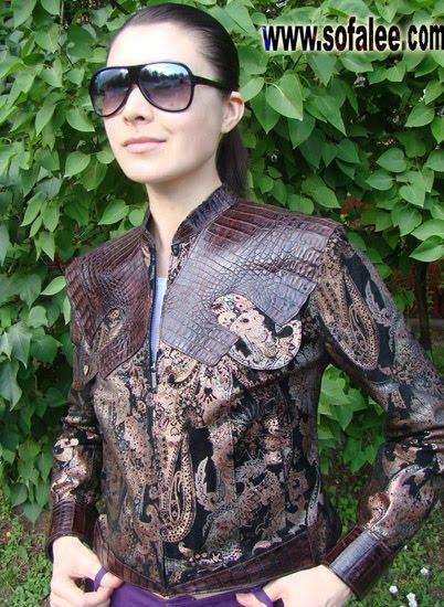 "№34Crocodile jacket for ladies""Sofy"""