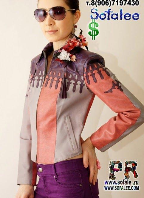 """№35 Кожаная женская куртка """"Lakrimosa"""""""