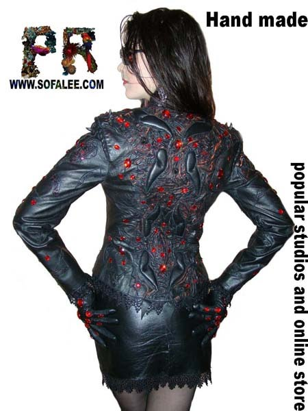 "№39 ""Romania 14th century"" jacket leather womens"