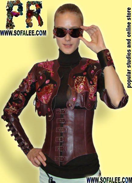 """№70 Genuine leather costume """"Stitch"""""""