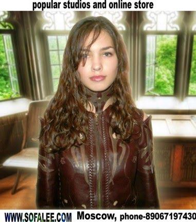"№38 Suit of genuine leather""Pletenie"""