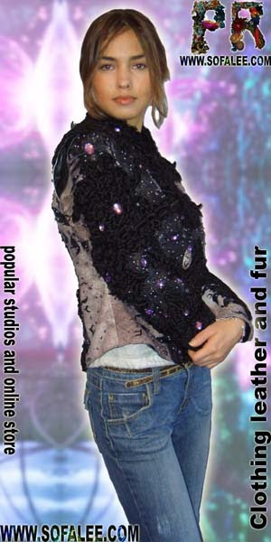 "№32 women leather jacket ""Karakul"""