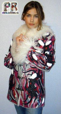 """№24Стильная женская дубленка с мехом ламы""""Kuran"""""""