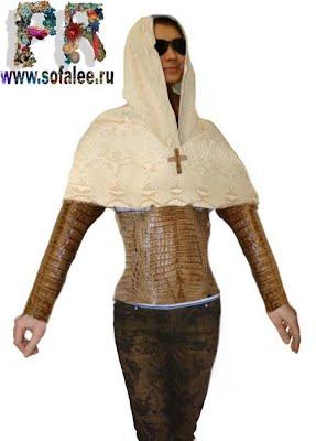 эскиз куртки из крокодила из натуральной кожи 0