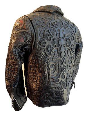 кожаная куртка из кожи крокодила и питона