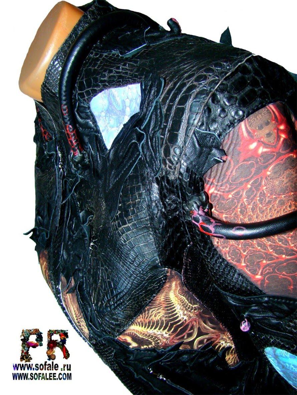 эксклюзивная кожаная куртка в стиле рок 12