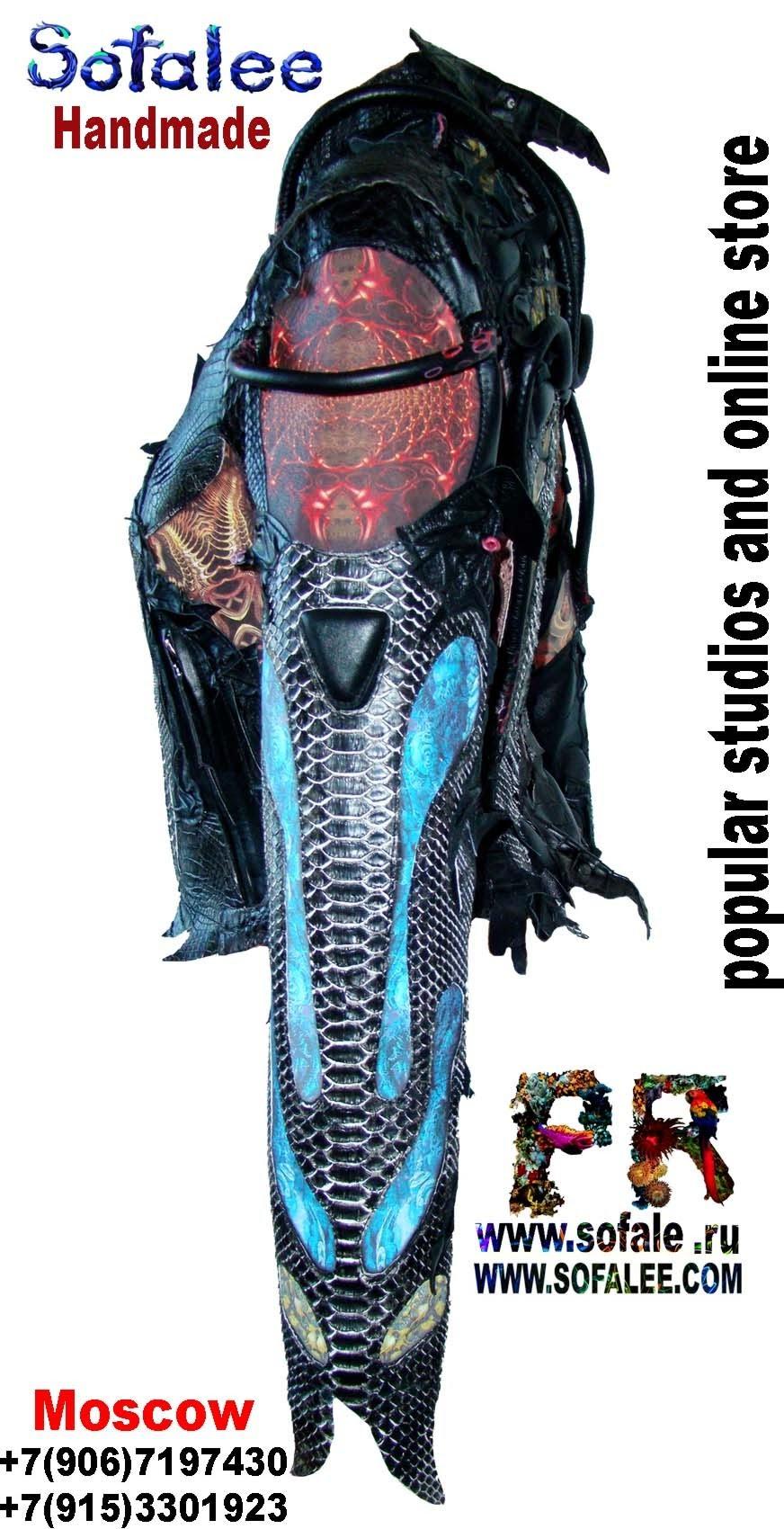 эксклюзивная кожаная куртка в стиле рок 8