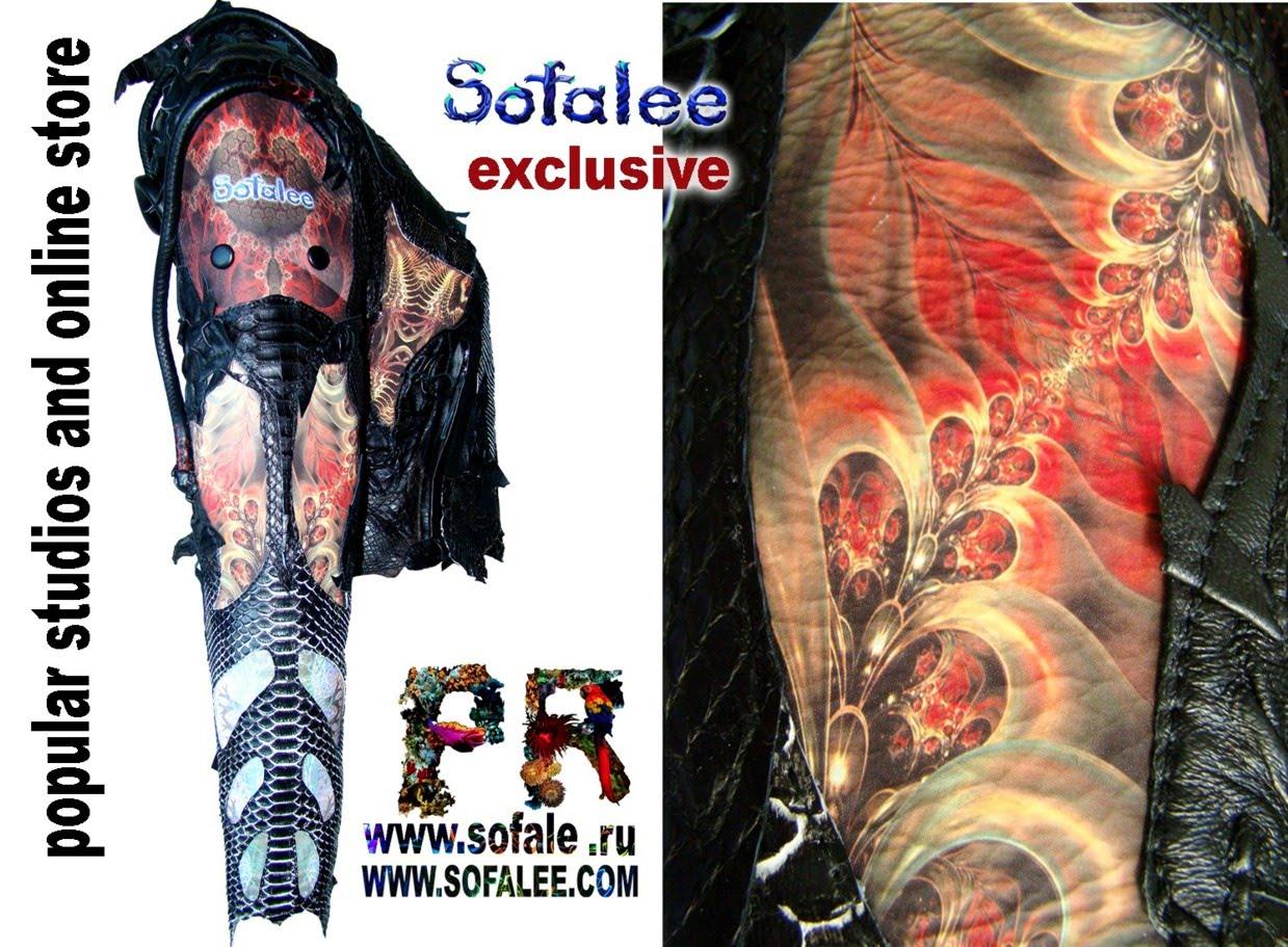 эксклюзивная кожаная куртка в стиле рок 5