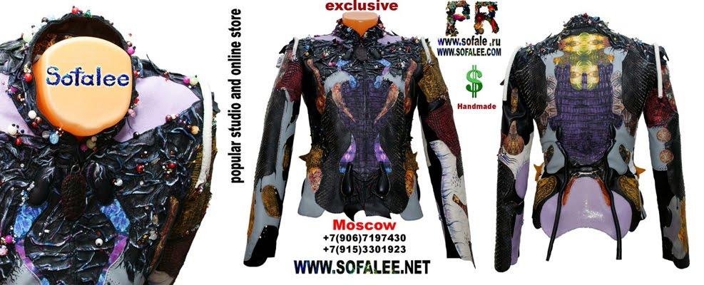 куртка из кожи крокодила и питона с вышивкой 12