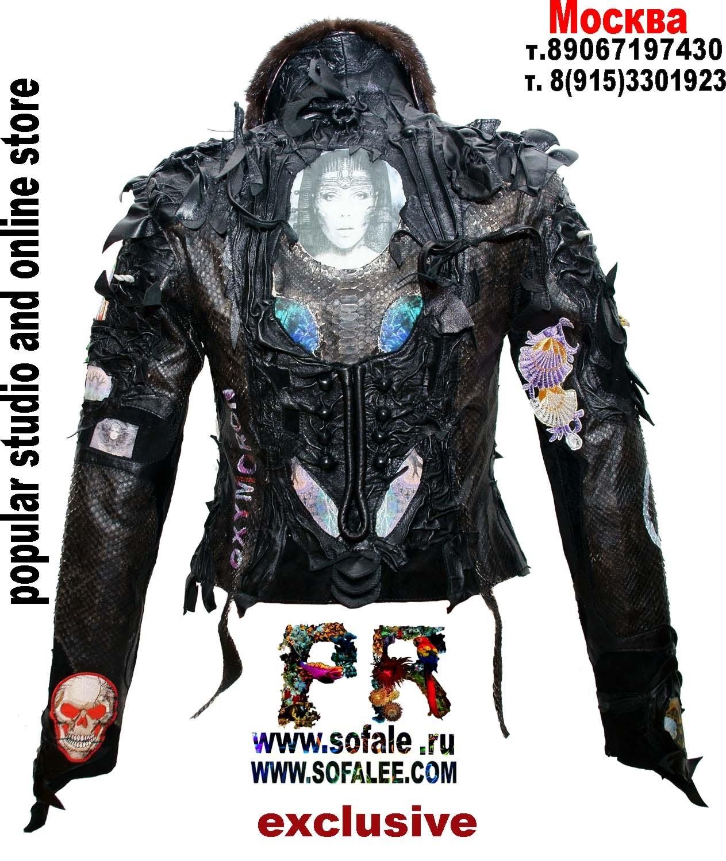 куртка из питона и наппа 09