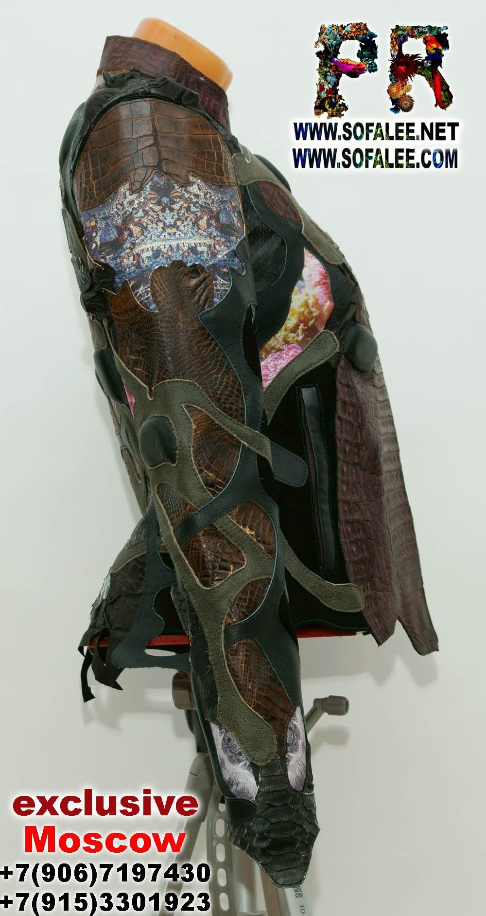 куртки кожаные из крокодила питона 12