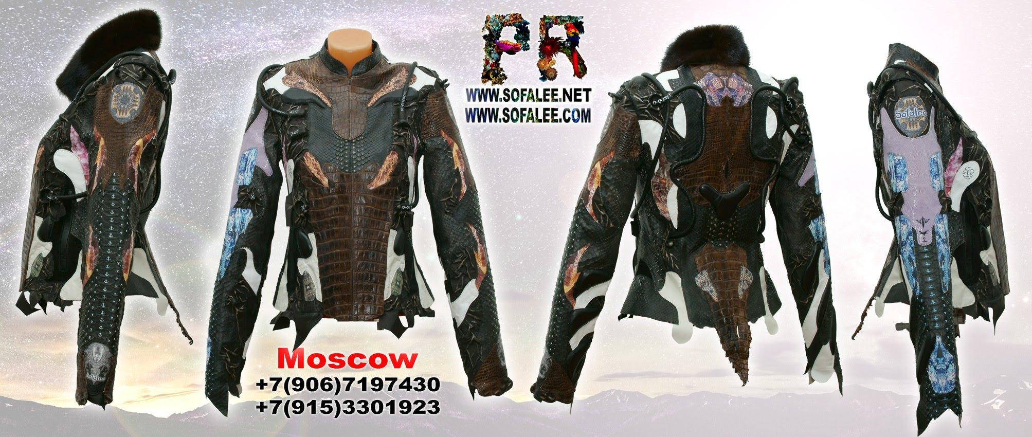 курточка из аллигатора питона ската 07