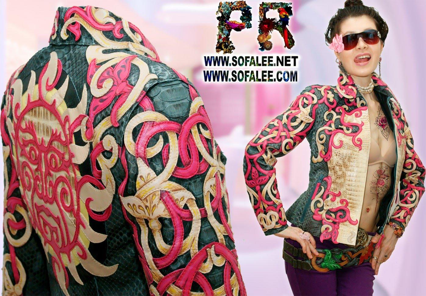 куртка женская из крокодила и питона 0000