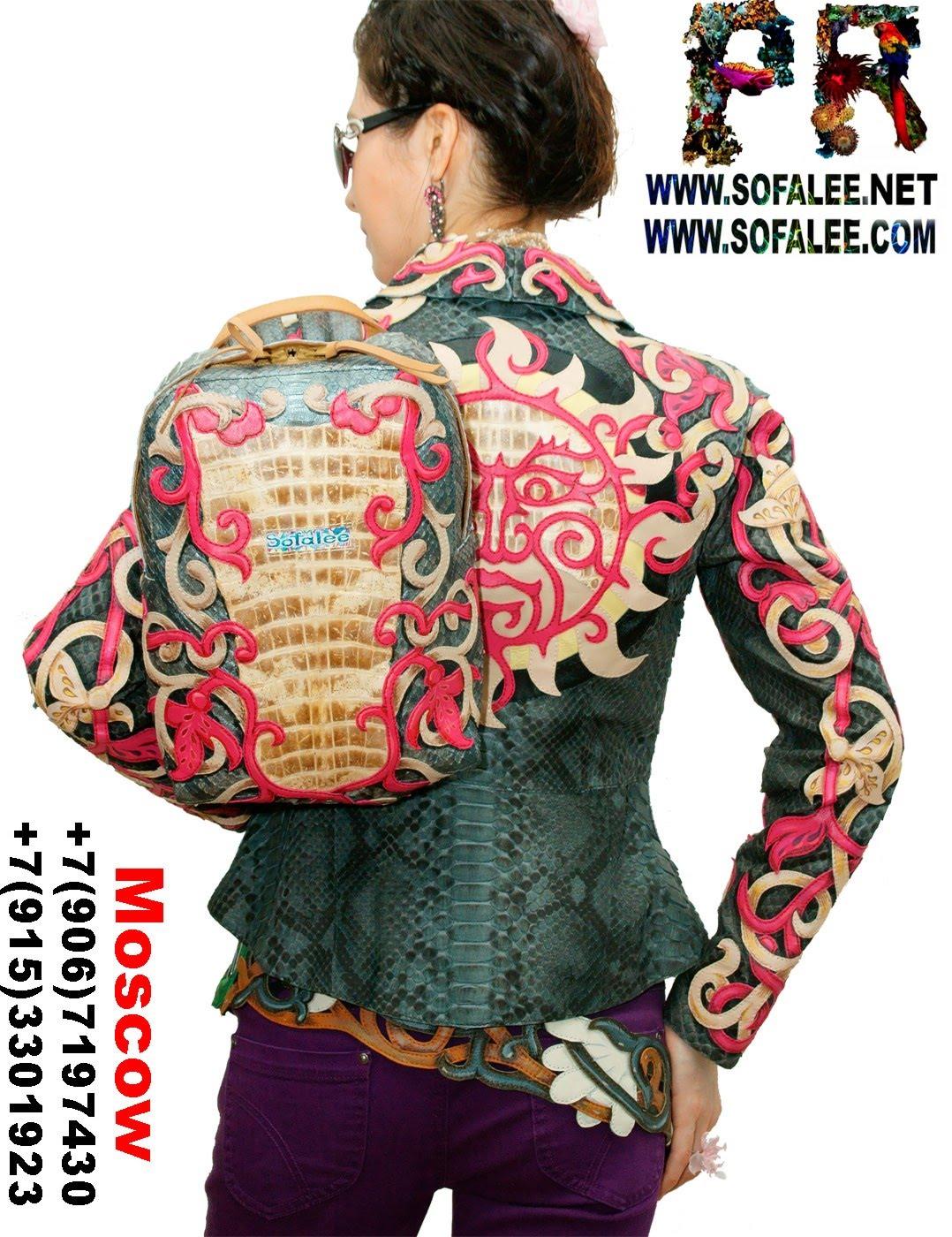 куртка женская из крокодила и питона 00