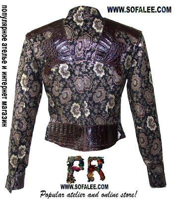 очень красивая куртка из натуральной кожи крокодила