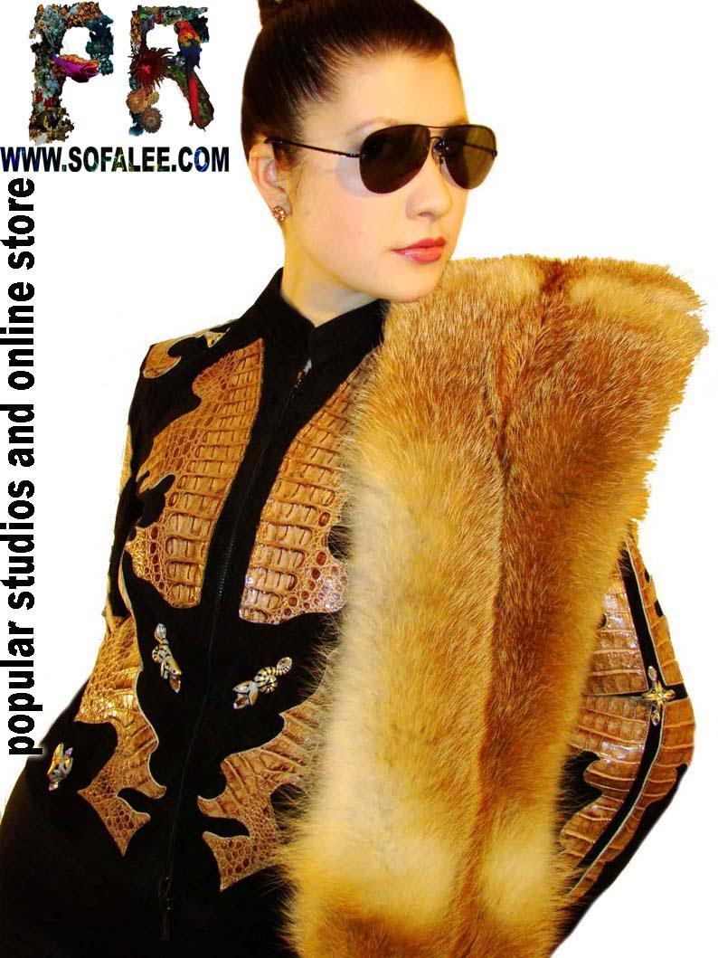 Luxury jacket of crocodile leather. Куртка из крокодиловой кожи