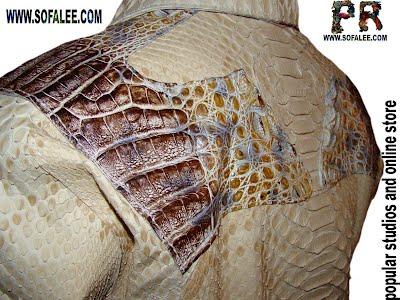 Крокодиловая кожа и кожа питона