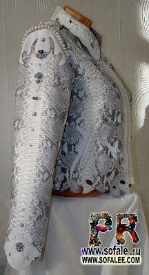 Куртка кожаная из питона купить в Москве фото 11