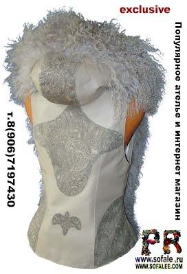 женская жилетка с капюшоном меховая из ламы фото 2