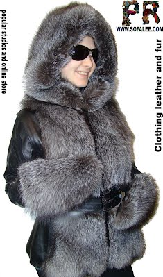 меховая зимняя куртка-жилет из чернобурки