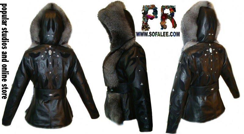 Меховая куртка с отстегивающимися рукавами