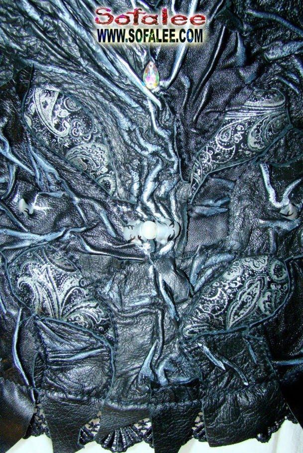 Куртка кожаная женская фрагмент
