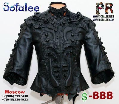черная кожаная куртка космический стиль 05